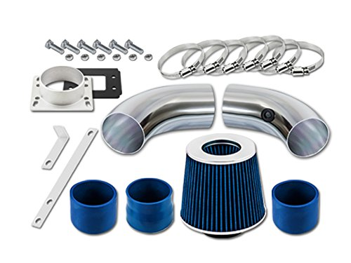 Short Ram Intake For 98 99 00 01 Ford Ranger 2.5l L4 Sr-fd14 with Blue Filter1 ()