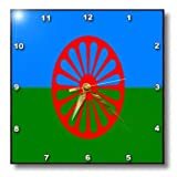 3dRose dpp_101030_3 Picture of A Roma Gypsy Flag-Wall Clock, 15 by 15-Inch Review