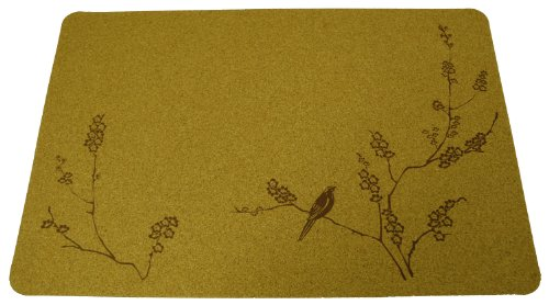 Cork Nature Korko 490410 Cherry Blossom Brown Placemat, 3mm, Set of ()