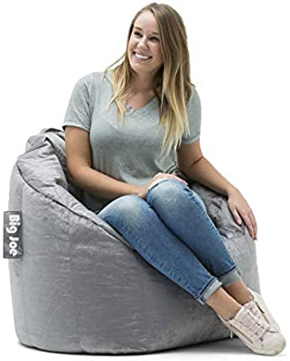 Awesome Big Joe Milano Bean Bag Chair Gray Plush 32 X 28 X 25 Dailytribune Chair Design For Home Dailytribuneorg