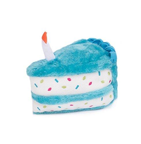 ZippyPaws ZP861 Birthday Cake Blue Squeak Toy
