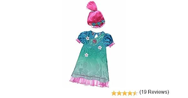 Disfraz de Poppy de Trolls con sonido Rosa rosa 5-6 Años: Amazon ...