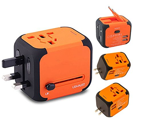 New Universal Travel Adapter Electric Plugs Sockets Converter Uk/EU/US/AU...