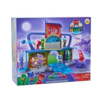 PJ Masks Headquarters Track Playset with features three levels of action-packed hero fun