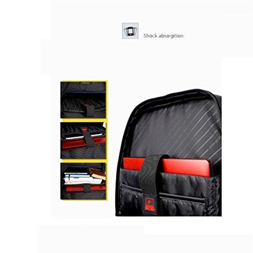 Laptop Rucksack Geschäft Polyester Wasserdicht Rucksäcke Mit USB-Ladeanschluss Für Männer blue