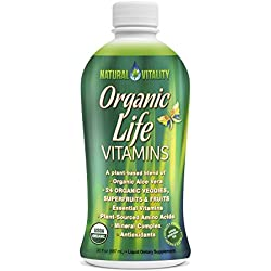 Natural Vitality Organic Life Vitamins Liquid, 30 fl oz