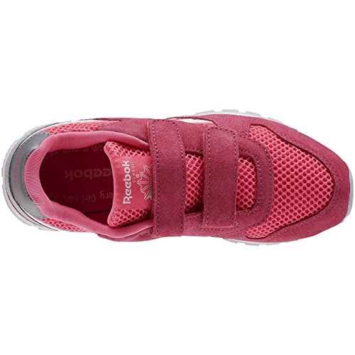 Reebok Gl 3000 2v, Zapatillas de Running Para Niños Rosa / Blanco / Gris (Solar Pink/White/Steel)