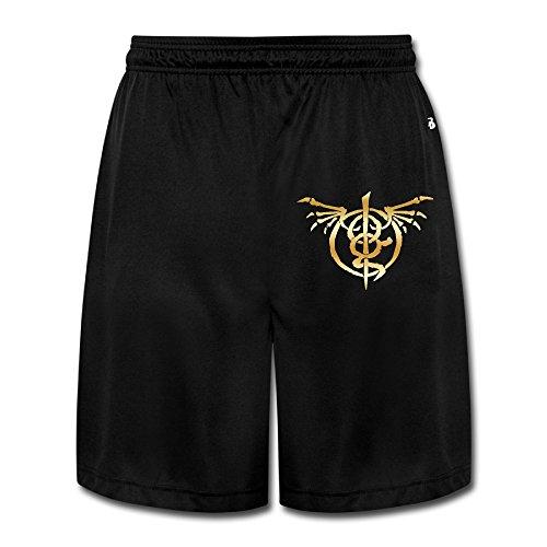 (Men's Wrath Lamb Of God Gold Logo Workout Pants Shorts)