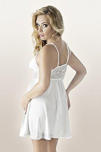 Sous Nuisette Dentelle De Chemise 54 56 Avec Opaque Xxl Femmes Blanc Robe Femme vêtements Blanc Nuit TA8xqw8d