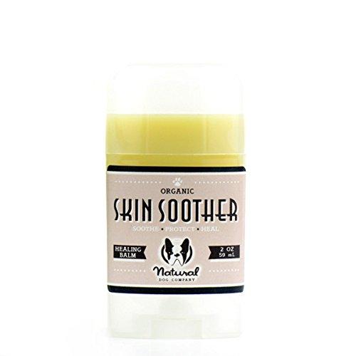 Natural Dog Company Skin Soother - Organic, Vegan Healing Balm - Hot Spots, Bacterial Folliculitis, Dermatitis, Alopecia, Dry Flaky Skin - 2oz/59ml