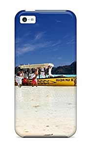 New Style LauraGroff-Y Hard Case Cover For Iphone 5c- South Beach Islands Pacific Tahiti Beautiful