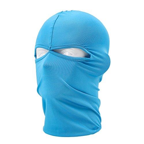 Maoko Outdoor Sports Lycra Balaclava- Cycling Hood Face Mask Hat Windproof Sky Blue (Camo Hockey Mask)