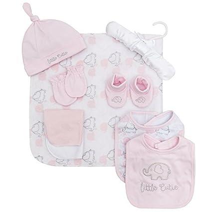 Bebé 9 Pieza Set regalo Manta de lana BABERO Patucos Gorro Manoplas ...