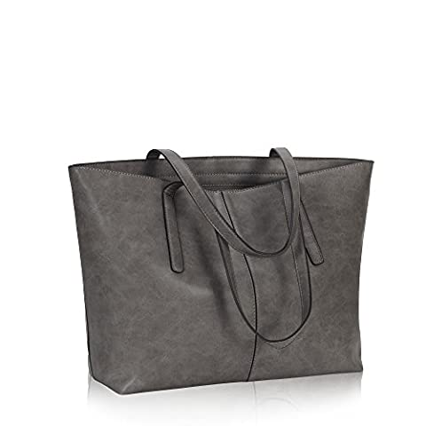 Hynes Victory Women Large Satchel Handbags Shoulder Tote Bag with Pouch Grey