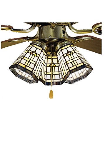 Meyda Tiffany 27461 Arrowhead Mission Ceiling Fan Light Shade, 4