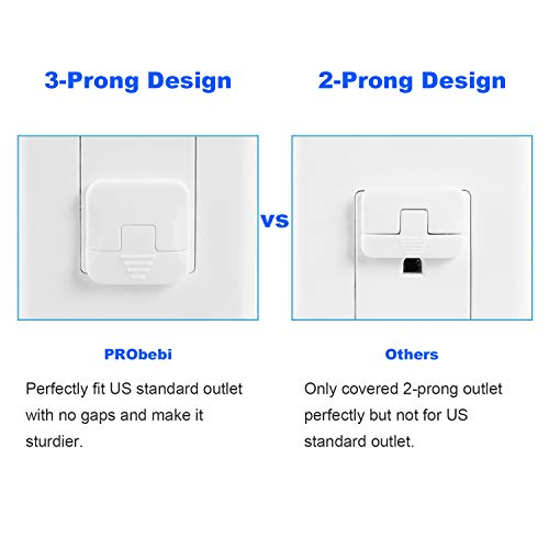 41Iijzl%2BFBL 38 Pack Baby proofing Outlet Plugs, PRObebi No Easy to Remove by Children Keep Prevent Baby from Accidental Shock Hazard    Product Description