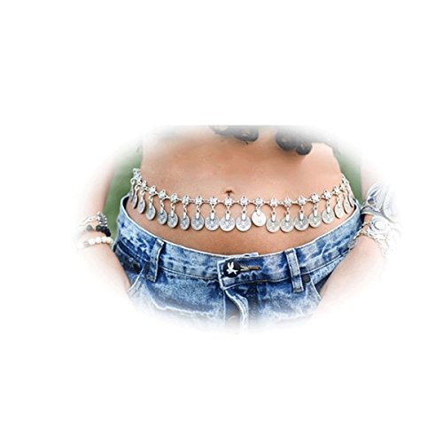 Tribal Back Belly Chain - Daycindy Belly Dancer Coin Waist Jewelry Gypsy Belt Chain for Women