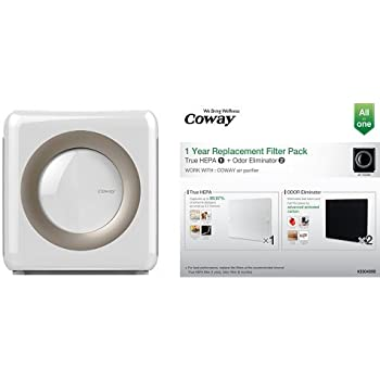 coway ap 1512hh mighty air purifier white and coway replacement filter pack for. Black Bedroom Furniture Sets. Home Design Ideas
