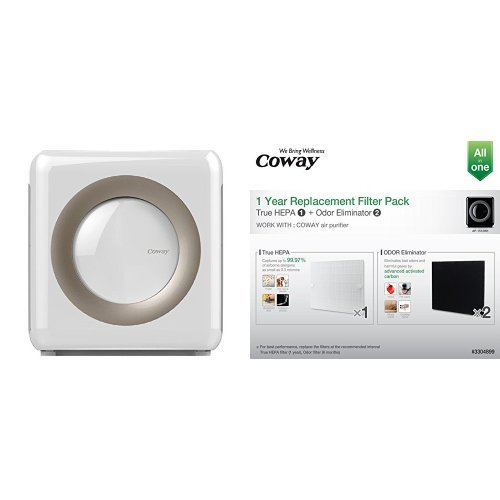 Coway Ap 1512 Hh Mighty Air Purifier, White And Coway Replacement Filter Pack For Ap1512 Hh Bundle by Coway