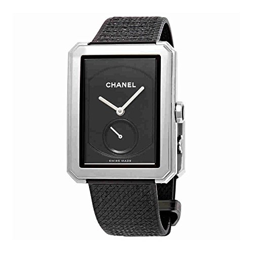 Chanel Boy-Friend Black Guilloche Dial Ladies Hand Wound Watch H5201