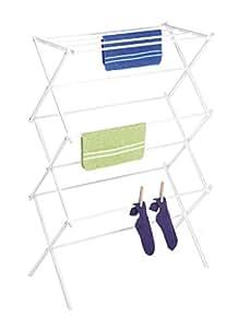 Whitmor 6023-741 Folding Clothes Drying Rack, White, Rust-Proof Guarantee, Premium Quality