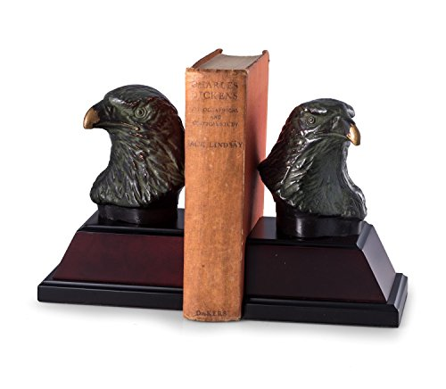 Paloma Collection AJ-R18Y Cast Metal Eagle Bookends,, used for sale  Delivered anywhere in USA