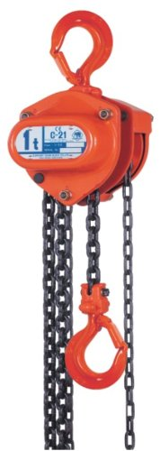 Elephant Lifting C21-3 Hand Chain Hoist, 3 ton Capacity, 20' Lift Height, Made in Japan