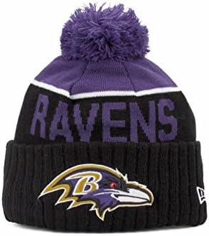 922887a0c90 New Era Mens 2015 NFL Sideline On Field Sport Knit Hat. Baltimore Ravens  2015 Sport Knit Cuffed Pom Knit Cap   Beanie