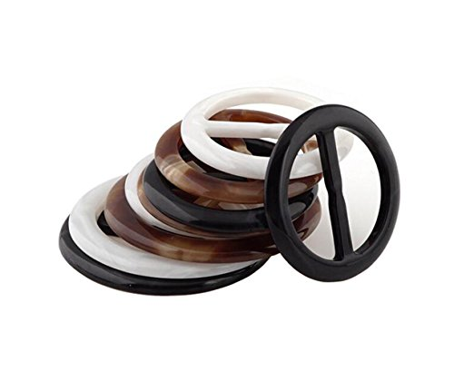 6PCS Women Lady Girls Plastic Round Circle Scarf Ring Scarves Buckle Silk Clasp Clips Clothing Ring Wrap Holder for Silk Neckerchief Clothing T-shirt(Color Random) (Diameter 25mm/1'')