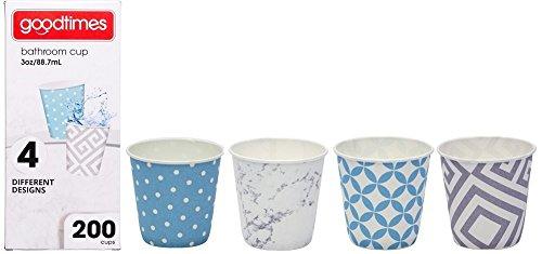 Goodtimes Bathroom Cups, 3 oz 200 ea, Assorted designs (1, Contemporary) ()