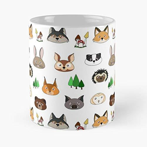 Skippy Mouse - Little Brown Bear Cute Forest Head Art - Best Gift Ceramic Coffee Mugs