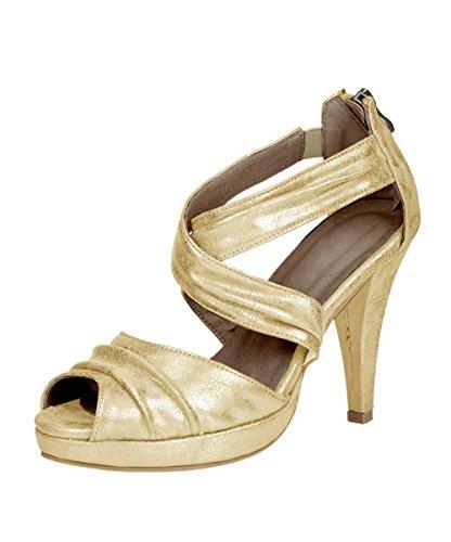 conti Doré pour à Andrea or Or talons sandales femme B8Fqxnqdw
