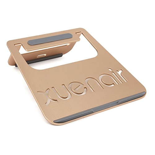 (Laptop Cooling Pad, Notebook Tablet Universal Portable Folding Aluminum Metal TPU Anti Slip Strip Stand Radiating Holder (Silver) )