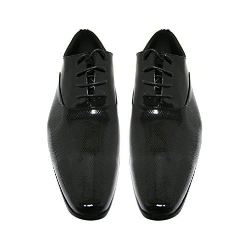 Robelli Herren schwarz Echtleder Schuhe - Seasonal Range LU9036-3