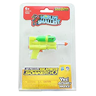 World's Smallest Super Soaker Water Squirters Set of 2 Barrage and Air Pressure Super Soaker 50