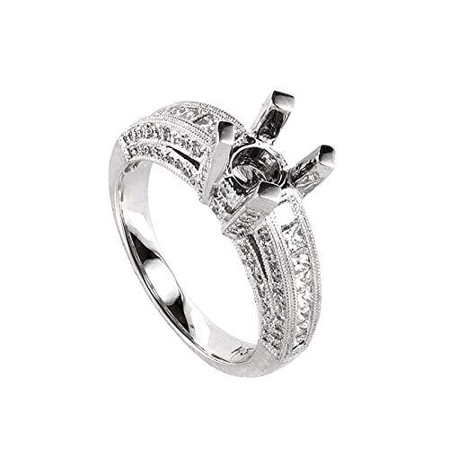 Diamond Mounting Gold (Luxury Bazaar 18K White Gold Diamond Mounting Ring LBD-0665862)