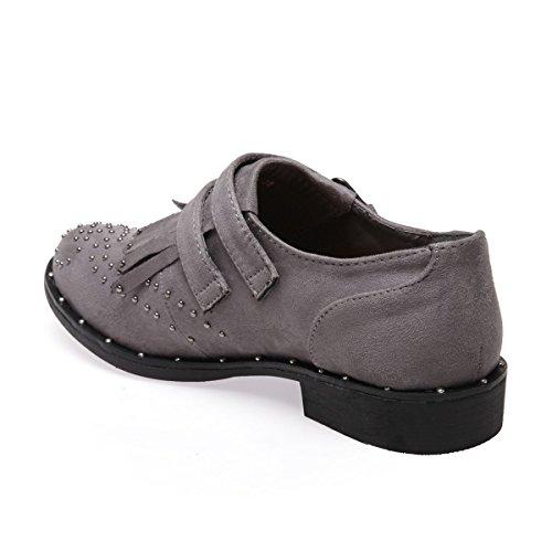 Richelieu en Type Ville Modeuse La Gris suédine Chaussures de TqYOIX
