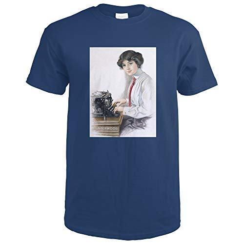 Underwood Vintage Poster 59504 (Navy Blue T-Shirt Small)