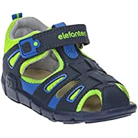 elefanten Boys -Toddler Extra Comfort Closed Toe Sandals - Anatomic Interior Leather Padding for Maximum Foot Protection, Perfect Ventilation and a Unique Design