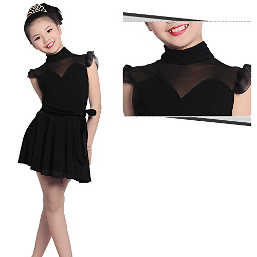Amazon.com: Embiofuels(TM) New Girls Latin Salsa Tango Dance Dress Kids Black Ballroom Samba Rumba Dance Costume Child Magical 2 Pieces Bullfighting Skirts: ...