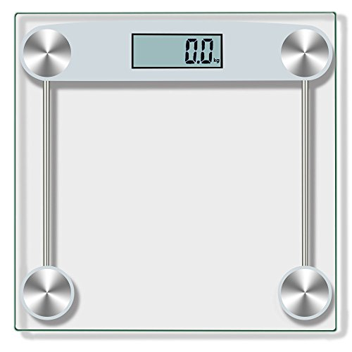 Denzar Digital Body Weight Bathroom Scale with Extra Large Lighted Display, Tempered Glass, Big Platform 300 Pounds Scales (Ship from US)