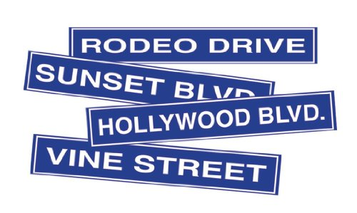 Hollywood Sign Cutouts Party Accessory (1 count) (4/Pkg) (Hollywood Blvd Costumes)