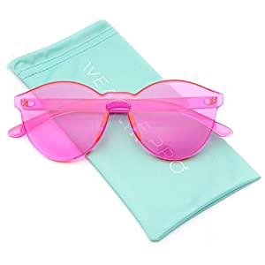 WearMe Pro - Colorful Transparent Round Super Retro Sunglasses