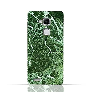 Huawei Mate 7 TPU Silicone Case With Green Marble Texture Design.