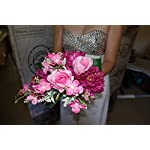 Artificial-Flower-Arrangement-9-Head-Peony-for-Wedding-Bridal-Bouquet-with-Pink-Rose-Peonies-Silk-Fake-Faux-Flowers-with-Greenery-Leaves-Stems-Table-Centerpiece-Ideas-DIY-Home-Decoration-Party
