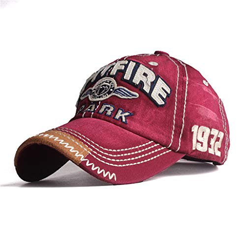 Pro Shops Camo Bass (Toponly Baseball Cap Unisex Mesh Trucker Plain Hat Adjustable Red)