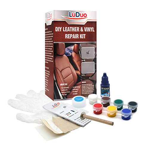 LuDuo DIY Vinyl Leather Conditioner Repair Kit -Restorer Furniture, Couch, Car Seats, Sofa, Jacket, Purse, Belt, Shoes Leather Skin Clean Interior Care -