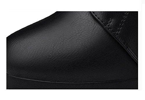 Piattaforma alta moda donna tacco alto stivali fibbia Stivali stivaletti alla caviglia Martin , 37