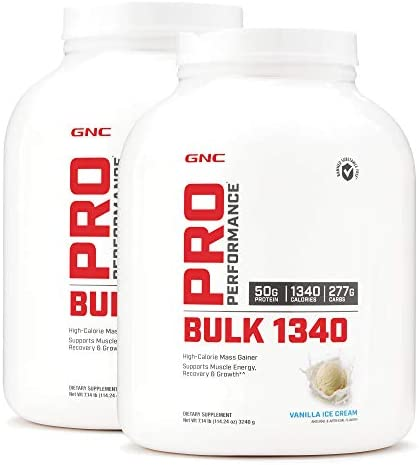 GNC Pro Performance Bulk 1340 – Vanilla Ice Cream – Twin Pack