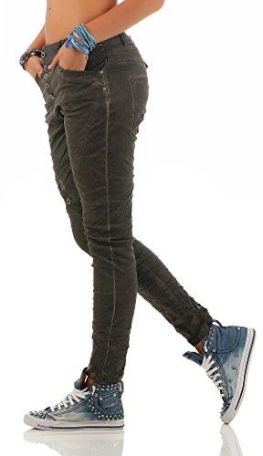 Da Grigio Zarmexx Jeans Denim L18124 Fidanzati Baggy 4 Stretch Ladies Distrutto Look Lexxury AaWvRxna